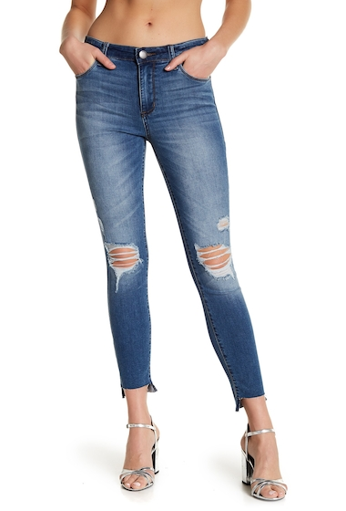Imbracaminte Femei STS BLUE Ellie High Rise Raw Step Hem Jeans HILLGROVE WLT