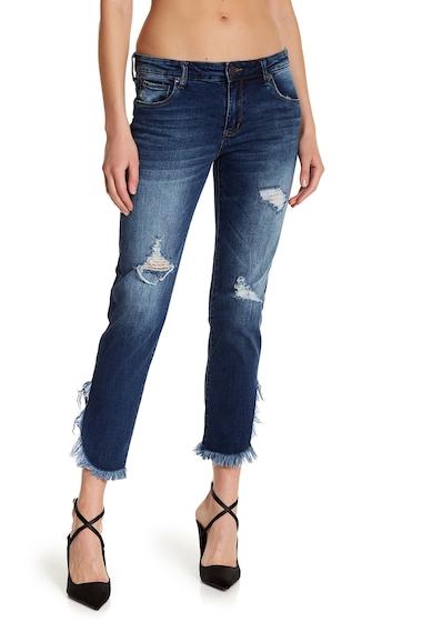 Imbracaminte Femei STS BLUE Frayed Tulip Hem Jeans SHADY CANYON W