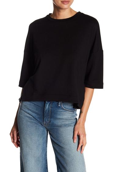 Imbracaminte Femei H By Bordeaux Fleece Boxy Sweatshirt BLACK