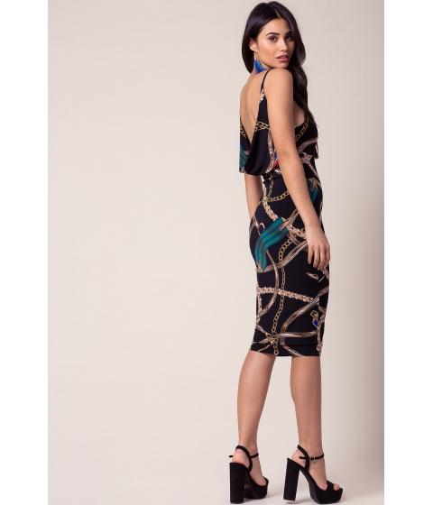 Imbracaminte Femei CheapChic Linked Together Bodycon Dress Black Print