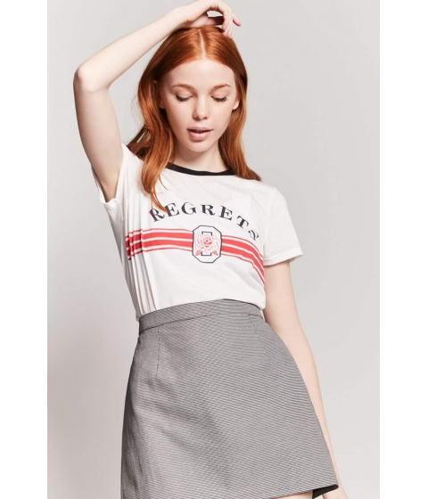 Imbracaminte Femei Forever21 Houndstooth A-Line Skirt BLACKCREAM