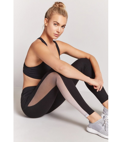 Imbracaminte Femei Forever21 Active Ombre Mesh Leggings BLACKWHITE