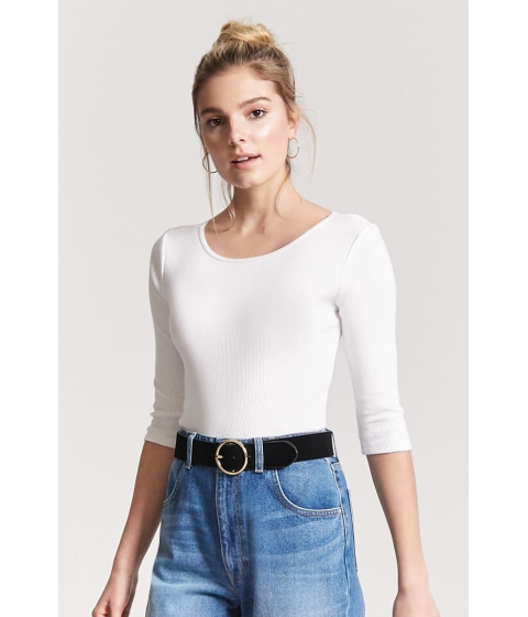 Imbracaminte Femei Forever21 Ribbed Knit Top WHITE
