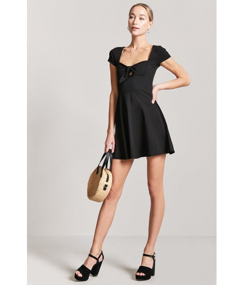 Imbracaminte Femei Forever21 Tie-Front Cutout Mini Dress BLACK