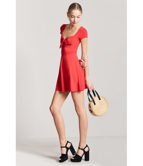 Imbracaminte Femei Forever21 Tie-Front Cutout Mini Dress RED