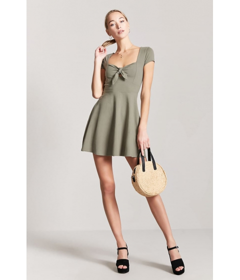 Imbracaminte Femei Forever21 Tie-Front Cutout Mini Dress SAGE