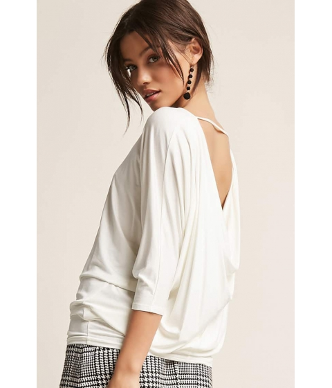 Imbracaminte Femei Forever21 Cowl-Back Dolman Top WHITE