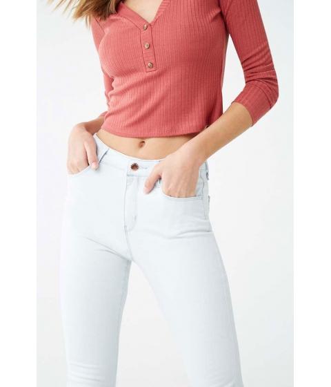 Imbracaminte Femei Forever21 Mid-Rise Skinny Jeans SKY BLUE