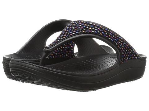 Incaltaminte Femei Crocs Sloane Embellished Flip BlackMulti