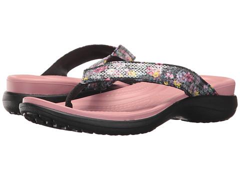Incaltaminte Femei Crocs Capri V Graphic Sequin Flip Cashmere Rose