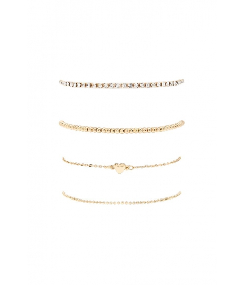 Bijuterii Femei Forever21 Heart Charm Bracelet Set GOLD