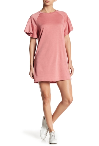 Imbracaminte Femei LOVEAdy Ruffle Sleeve Sweater Dress TOASTED ROSE