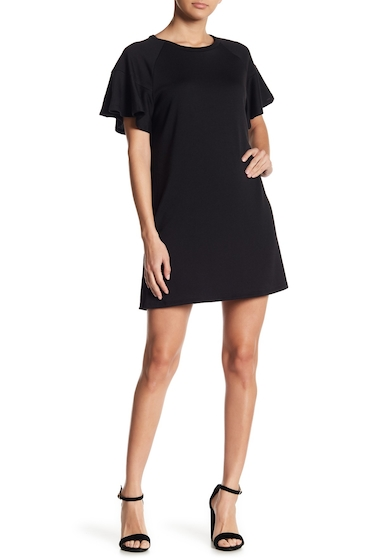 Imbracaminte Femei LOVEAdy Ruffle Sleeve Sweater Dress BLACK