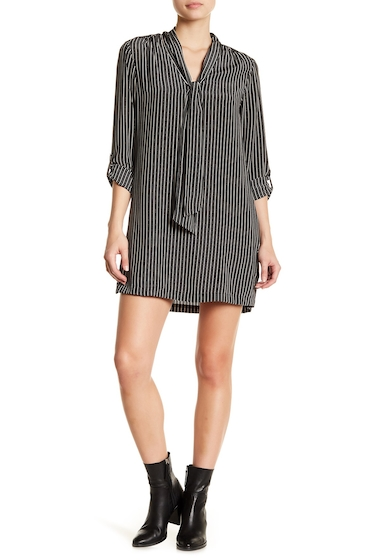Imbracaminte Femei Joie Warley Stripe Tie Silk Dress CAVIAR-ALMOND
