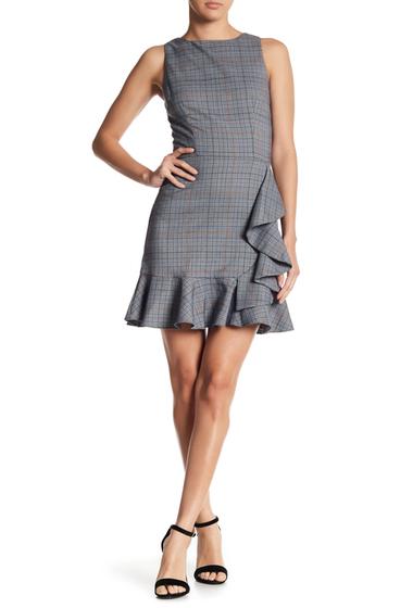 Imbracaminte Femei LOVEAdy Ruffle Accent Plaid Dress BLUE MULTI