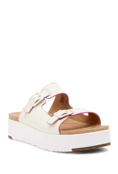 Incaltaminte Femei UGG Hanneli Platform Slide Sandal WHT