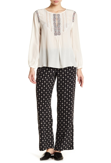 Imbracaminte Femei Joie Florencia Floral Print Silk Pants CAVIAR