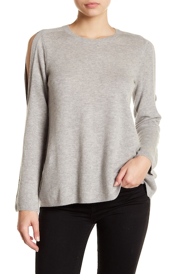 Imbracaminte Femei Joie Amalyn Split Shoulder Wool Blend Sweater ASH HEATHER GREY
