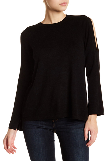 Imbracaminte Femei Joie Amalyn Split Shoulder Wool Blend Sweater CAVIAR