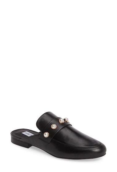 Incaltaminte Femei Steve Madden Kandi-P Loafer Mule BLACK LEAT
