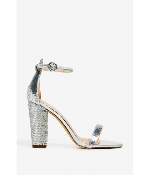 Incaltaminte Femei CheapChic No Help Needed Heel Metallic Silver
