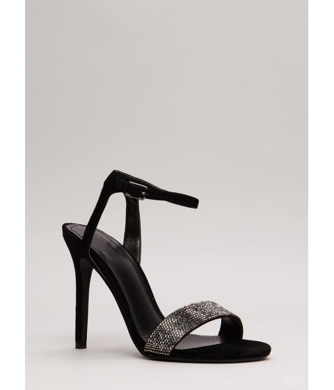 Incaltaminte Femei CheapChic Sparkles Will Fly Strappy Jeweled Heels Black