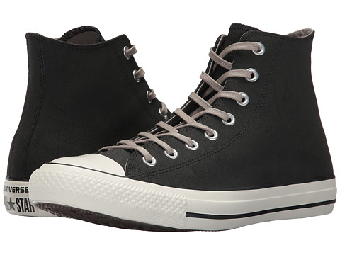 Incaltaminte Femei Converse Chuck Taylor All Star Coated Leather Hi BlackMaltedEgret