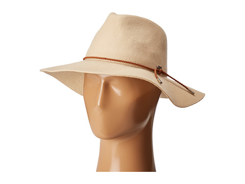Accesorii Femei San Diego Hat Company WFH8047 Floppy Fedora with Braided Trim Bone