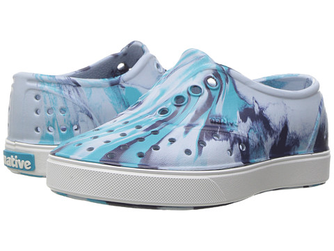 Incaltaminte Fete Native Shoes Miller Marbled (ToddlerLittle Kid) Air BlueShell WhiteMarbled