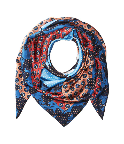 Accesorii Femei Echo Design Cut Out Foulard Silk Square Scarf Chambray