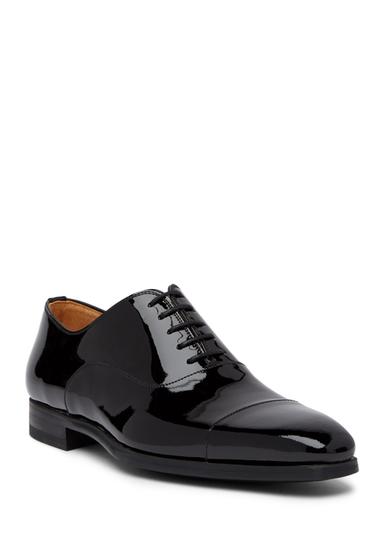 Incaltaminte Barbati Magnanni Clint Patent Leather Dress Shoe BLACK