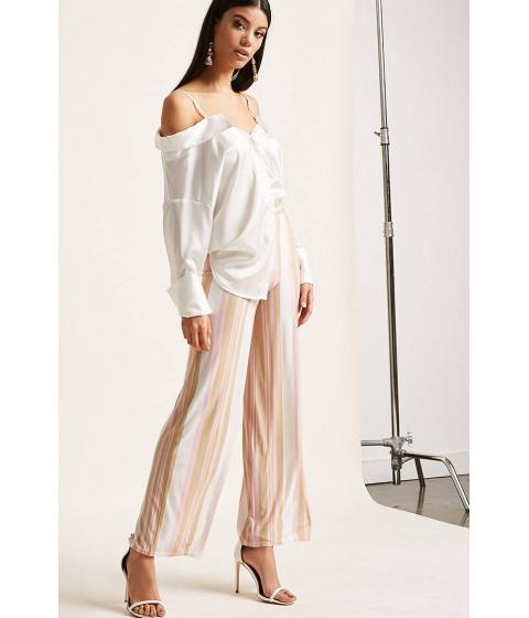 Imbracaminte Femei Forever21 Stripe Wide-Leg Pants WHITEMULTI