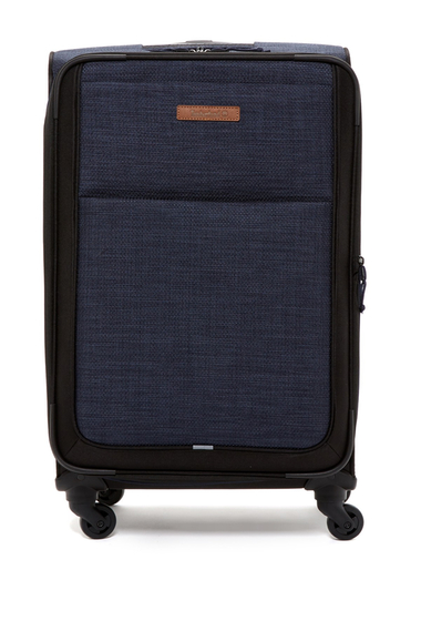 Genti Femei Timberland Topsfield 24 Expandable Spinner Suitcase DARK DENIM