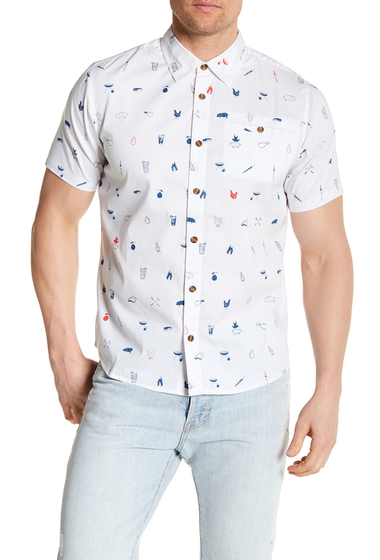 Imbracaminte Barbati ONeill Grilled Stretch Fit Shirt WHITE