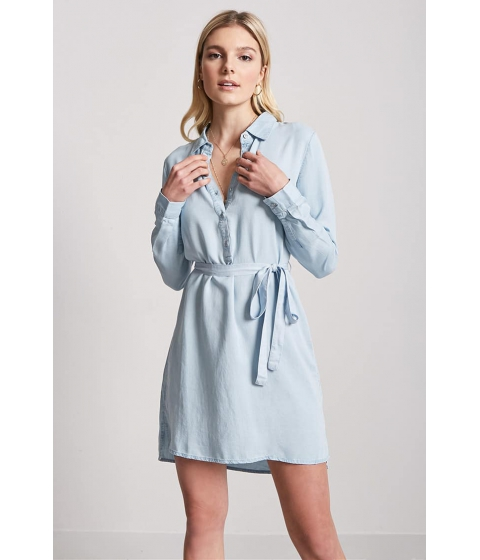 Imbracaminte Femei Forever21 Chambray Shirt Dress LIGHT DENIM