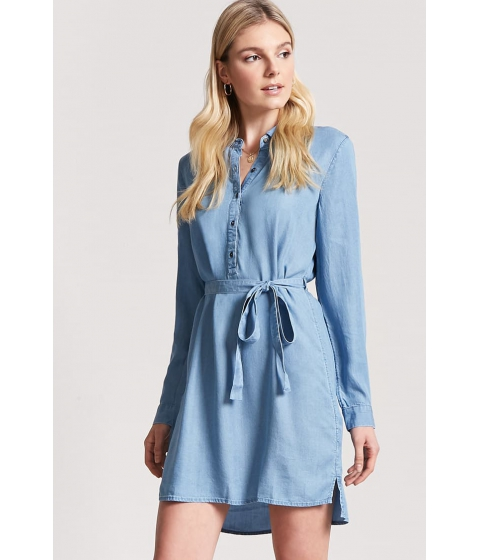 Imbracaminte Femei Forever21 Chambray Shirt Dress MEDIUM DENIM