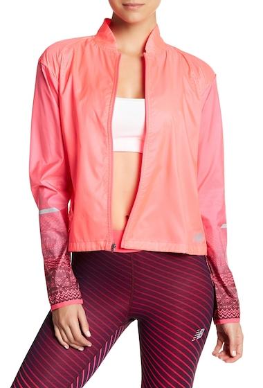 Imbracaminte Femei New Balance Front Zip Fun Run Jacket ALPHA PINK