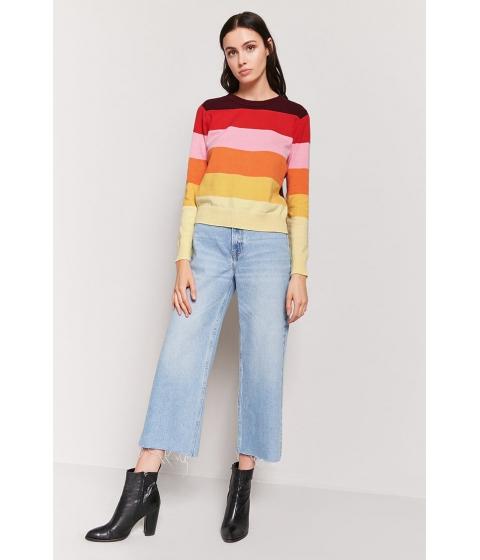 Imbracaminte Femei Forever21 Multicolor Stripe Sweater BURGUNDYRED