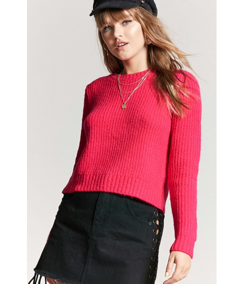 Imbracaminte Femei Forever21 Ribbed Knit Sweater HOT PINK