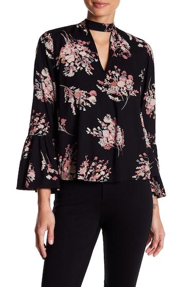 Imbracaminte Femei Abound Floral Choker Neck Blouse BLACK ETHR FLR
