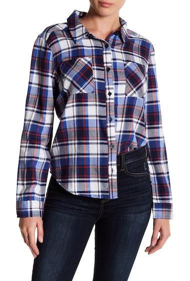 Imbracaminte Femei Abound Front Button Plaid Flannel Shirt NAVY P BNCA PLD