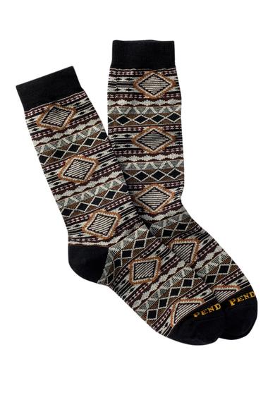 Accesorii Femei Pendleton Cedar Mountain Crew Socks BLACK