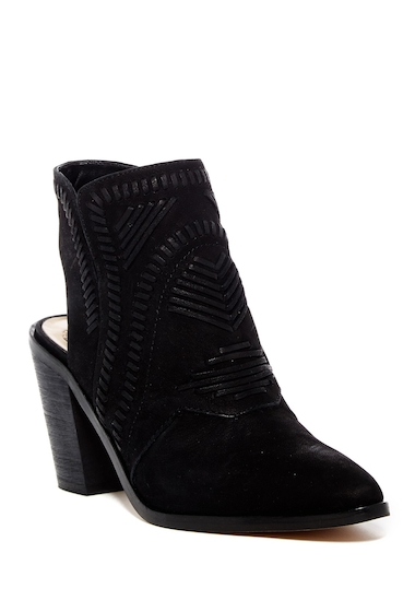 Incaltaminte Femei Vince Camuto Binks Whipstitched Cutout Bootie BLACK 01