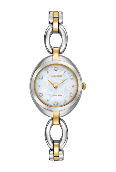 Ceasuri Femei Citizen Watches Womens Eco-Drive Silhouette Crystal Two-Tone Stainless Bracelet Watch 24mm NO COLOR