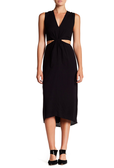 Imbracaminte Femei Alice Olivia Nia Twist Front Dress BLACK