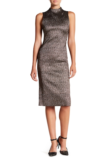 Imbracaminte Femei Alice Olivia Marcella Fitted Metallic Dress GOLD-MULTI