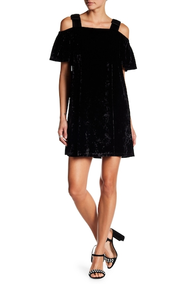 Imbracaminte Femei NANETTE nanette lepore Velvet Cold Shoulder Dress VERY BLACK