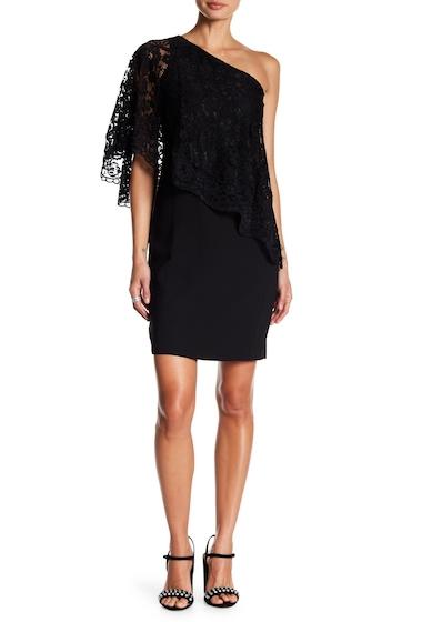 Imbracaminte Femei NANETTE nanette lepore Lace One Shoulder Dress VERY BLACK