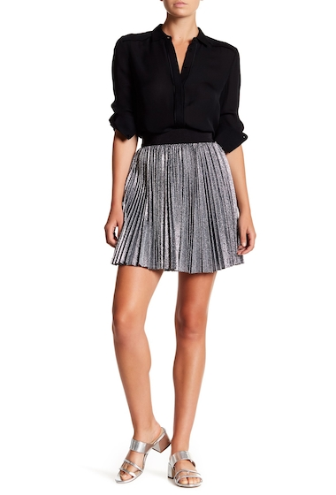 Imbracaminte Femei Alice Olivia Danica Pleated Mini Skirt SILVER-BLACK