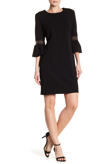 Imbracaminte Femei ABS Collection Bell Sleeve Shift Dress JET BLACK